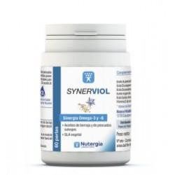 synerviol.Aporta en proporciones equilibradas ácido linoléico y gama-linolénico (borraja), EPA y DHA (pequeños pescados) que par