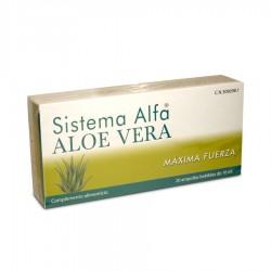 Sistema Alfa. Sistema Alfa Aloe Vera, está indicado como deportivo y para el sistema digestivo, como cicatrizante, acidez y mala